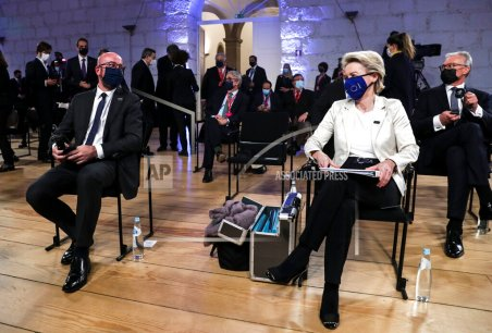 EU leaders attend summit in person for 1st time this year