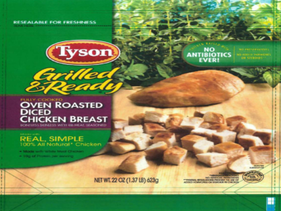 Nearly 8.5 Million Pounds of Frozen Chicken Recalled by Tyson Foods