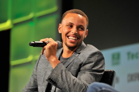 Steph Curry speaks at TechCrunch